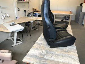 Autostoffering Porsche 911 stoel reparaties