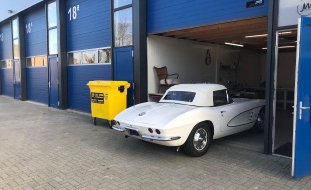 Cabrio kap Corvette uit 1961