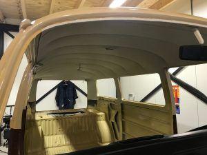 Oldtimer stoffering hemel VW T2