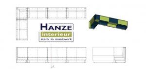 Maatwerk Treinbank Hanze Interieur