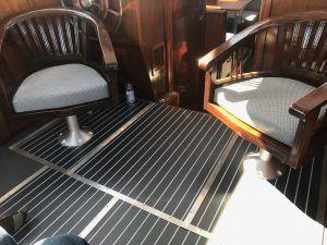 Scheepsstoffering kussens, stuurstoelen, matrassen voor motorjacht