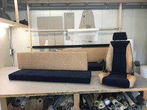 Herstoffering stuurhut Kussens en stuurstoel