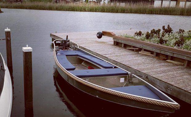 Kussens op maat voor een aluminium boot