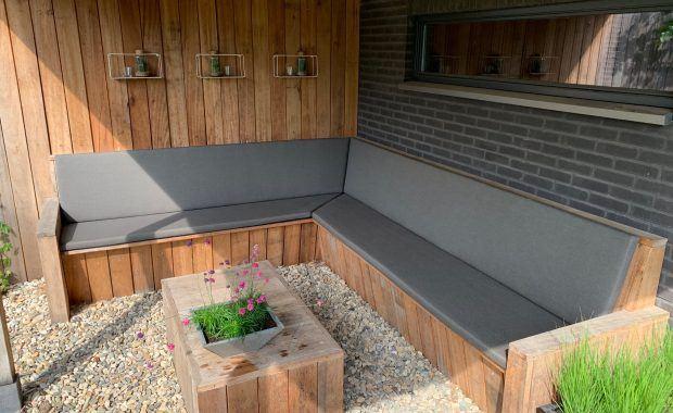 Maatwerk Lounge hoekbank kussens in Hasselt