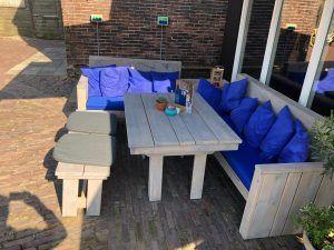 loungebank kussens terras cafe brazzerie