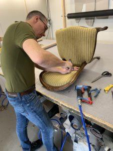 Meubelstoffering antieke biedermeier stoelen