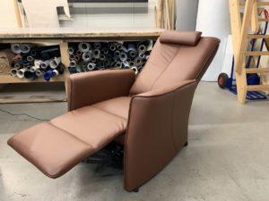 Meubelstoffering, herbekleden van relax fauteuil